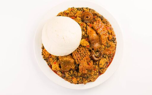 Egusi Soup Paired With Golden Penny Semovita